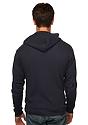 Unisex eco Triblend Jersey Full Zip Hoodie ECO TRI BLACK Back