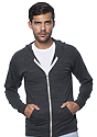 Unisex eco Triblend Jersey Full Zip Hoodie ECO TRI CHARCOAL Front