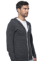 Unisex eco Triblend Jersey Full Zip Hoodie ECO TRI CHARCOAL Side
