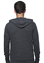 Unisex eco Triblend Jersey Full Zip Hoodie ECO TRI CHARCOAL Back