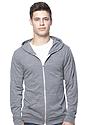 Unisex eco Triblend Jersey Full Zip Hoodie ECO TRI GREY Front