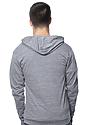 Unisex eco Triblend Jersey Full Zip Hoodie ECO TRI GREY Back