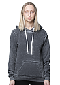 Unisex Burnout Pullover Hoody GREY Front2