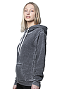 Unisex Burnout Pullover Hoody GREY Side2