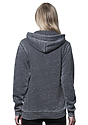 Unisex Burnout Pullover Hoody GREY Back2