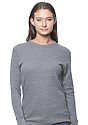 Unisex eco Triblend Heavyweight Thermal ECO TRI GREY Front2