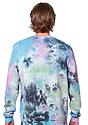 Unisex Galaxy Tie Dye Crew Sweatshirt MILKY WAY 3