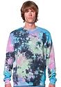 Unisex Galaxy Tie Dye Crew Sweatshirt  1