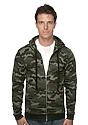 Unisex Camo Fleece Full Zip Hoodie  Front