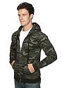 Unisex Camo Fleece Full Zip Hoodie  Back