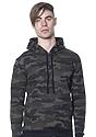 Unisex Camo Fleece Pullover Hoodie  Front
