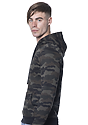 Unisex Camo Fleece Pullover Hoodie  Back