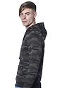 Unisex Camo Fleece Pullover Hoodie CAMO Back