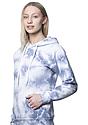 Unisex Cloud Tie Dye Pullover Hoodie INFINITY side