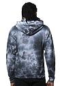 Unisex Cloud Tie Dye Pullover Hoodie PHANTOM Back