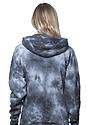 Unisex Cloud Tie Dye Pullover Hoodie PHANTOM Back2