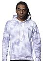 Unisex Cloud Tie Dye Pullover Hoodie PUPRPLE HAZE front