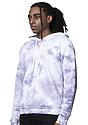 Unisex Cloud Tie Dye Pullover Hoodie PUPRPLE HAZE side