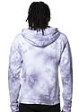Unisex Cloud Tie Dye Pullover Hoodie PUPRPLE HAZE Back