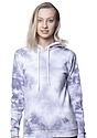 Unisex Cloud Tie Dye Pullover Hoodie PUPRPLE HAZE Front2