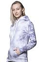 Unisex Cloud Tie Dye Pullover Hoodie PUPRPLE HAZE Side2