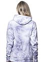 Unisex Cloud Tie Dye Pullover Hoodie PUPRPLE HAZE Back2