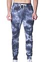 Unisex Cloud Tie Dye Jogger Sweatpant PHANTOM LayDownFront