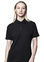 Unisex Organic Pique Polo Shirt NIGHT Front2
