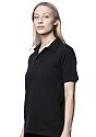 Unisex Organic Pique Polo Shirt NIGHT Side2