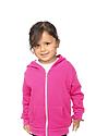 Toddler Fashion Fleece Neon Zip Hoodie  Front