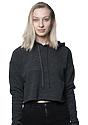 Women's eco Triblend Fleece Crop Hoodie ECO TRI CHARCOAL Front
