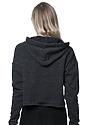 Women's eco Triblend Fleece Crop Hoodie ECO TRI CHARCOAL Back1