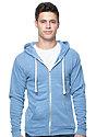Unisex eco Triblend Fleece Full Zip Hoodie  Front