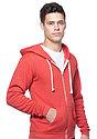Unisex eco Triblend Fleece Full Zip Hoodie ECO TRI TRUE RED Front