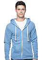 Unisex eco Triblend Fleece Full Zip Hoodie ECO TRI ROYAL Front
