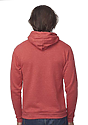 Unisex eco Triblend Fleece Pullover Hoodie  Back