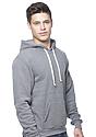 Unisex eco Triblend Fleece Pullover Hoodie ECO TRI GREY Side
