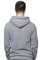 Unisex eco Triblend Fleece Pullover Hoodie ECO TRI GREY Back
