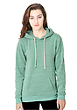 Unisex eco Triblend Fleece Pullover Hoodie ECO TRI KELLY Front2