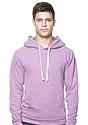Unisex eco Triblend Fleece Pullover Hoodie ECO TRI PURPLE Front