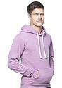 Unisex eco Triblend Fleece Pullover Hoodie ECO TRI PURPLE Side