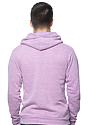 Unisex eco Triblend Fleece Pullover Hoodie ECO TRI PURPLE Back