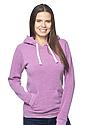 Unisex eco Triblend Fleece Pullover Hoodie ECO TRI PURPLE Front2