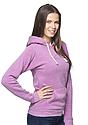 Unisex eco Triblend Fleece Pullover Hoodie ECO TRI PURPLE Back2