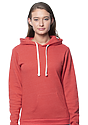 Unisex eco Triblend Fleece Pullover Hoodie ECO TRI TRUE RED Front2