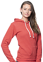 Unisex eco Triblend Fleece Pullover Hoodie ECO TRI TRUE RED Back2