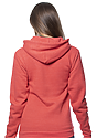 Unisex eco Triblend Fleece Pullover Hoodie ECO TRI TRUE RED Side