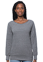 Women's eco Triblend Fleece Raglan w/Pouch Pocket  Front