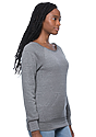 Women's eco Triblend Fleece Raglan w/Pouch Pocket  Side