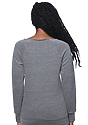 Women's eco Triblend Fleece Raglan w/Pouch Pocket  Back
